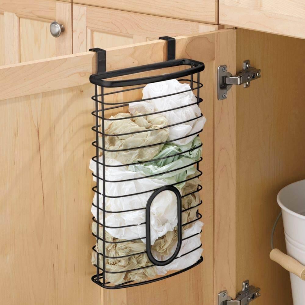 Over Cabinet Shopping Bag Holder