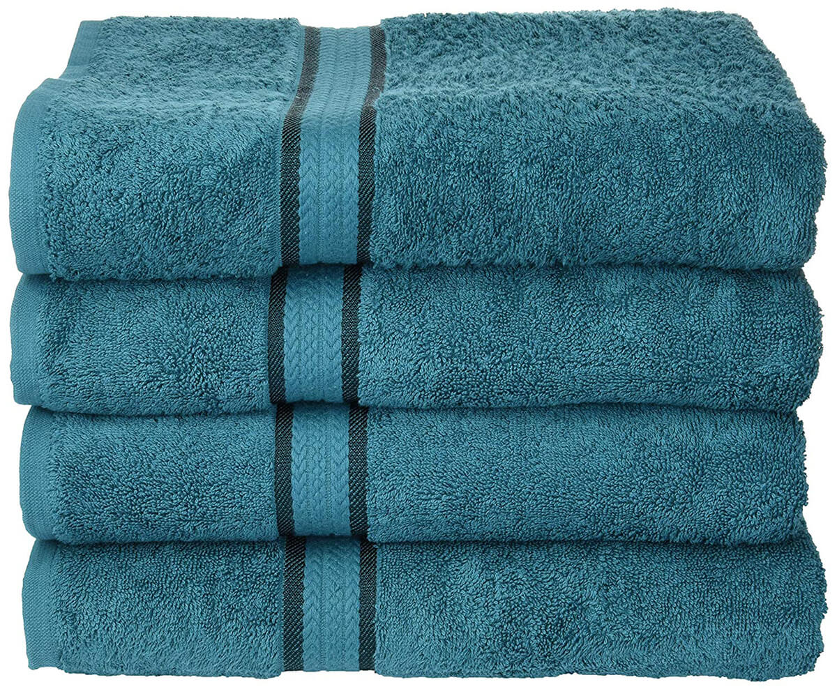 Ultra Soft 4 Pack Oversized Extra Large Bath Towels by Cotton Craft