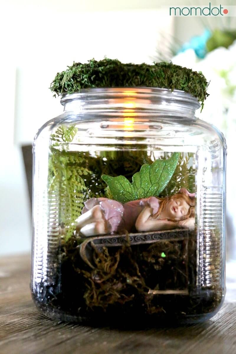 Sleeping Magical Fairy in a Jar