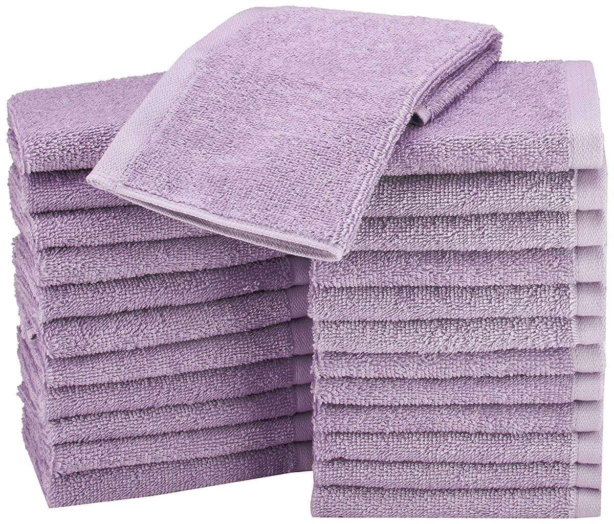 24 Pack of Washcloths by AmazonBasics