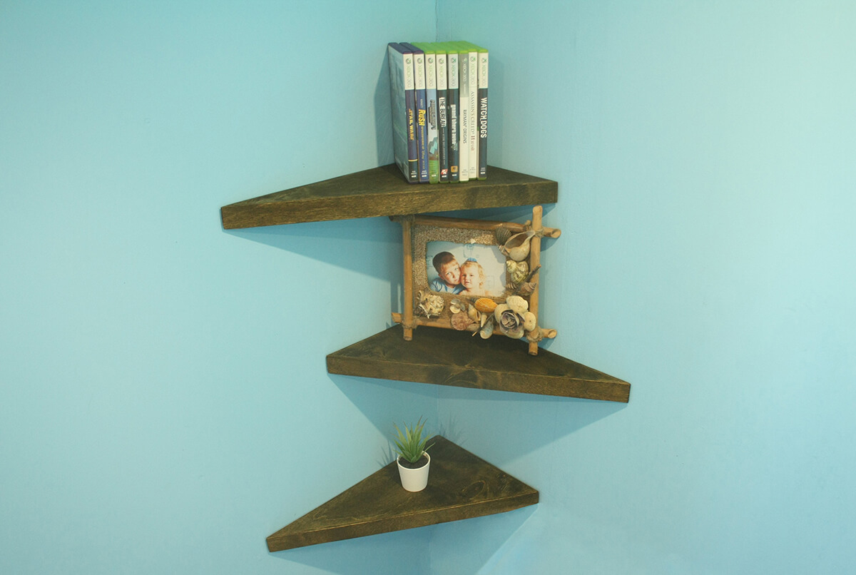 Cool Triangular Floating Shelves for your Home