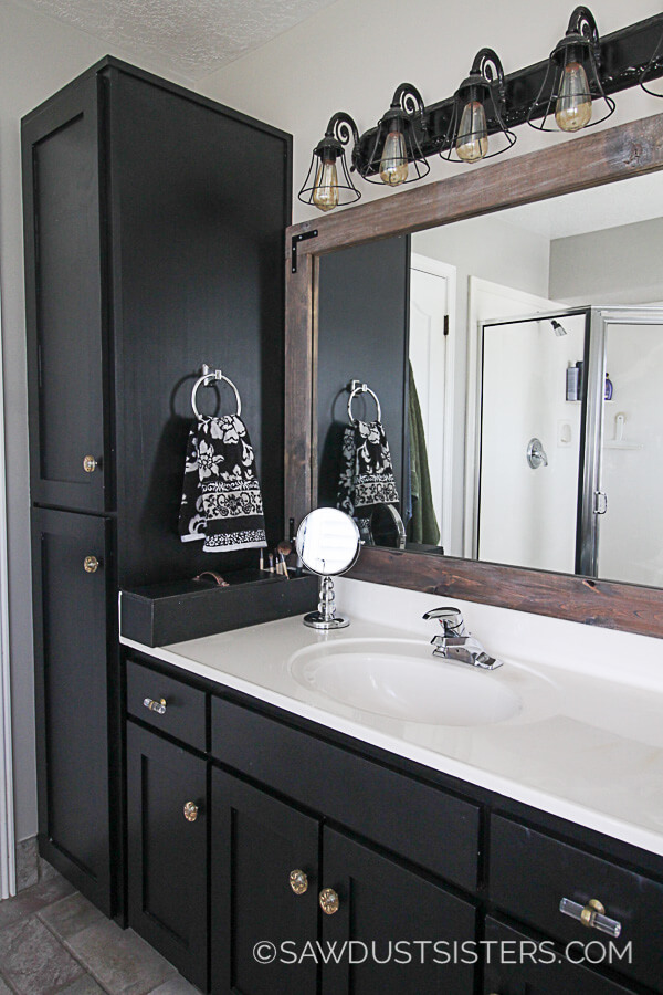 Be Bold with a Black Industrial Bathroom Design