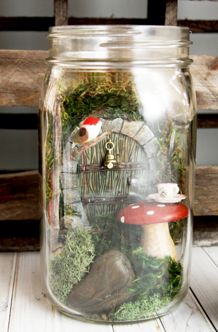 Tiny Fairy House in a Jar