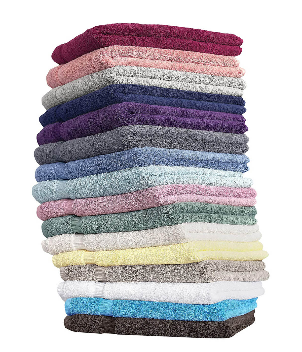 Luxury Hotel & Spa Turkish Cotton 6-Piece Eco-Friendly Hand Towel Set by SALBAKOS