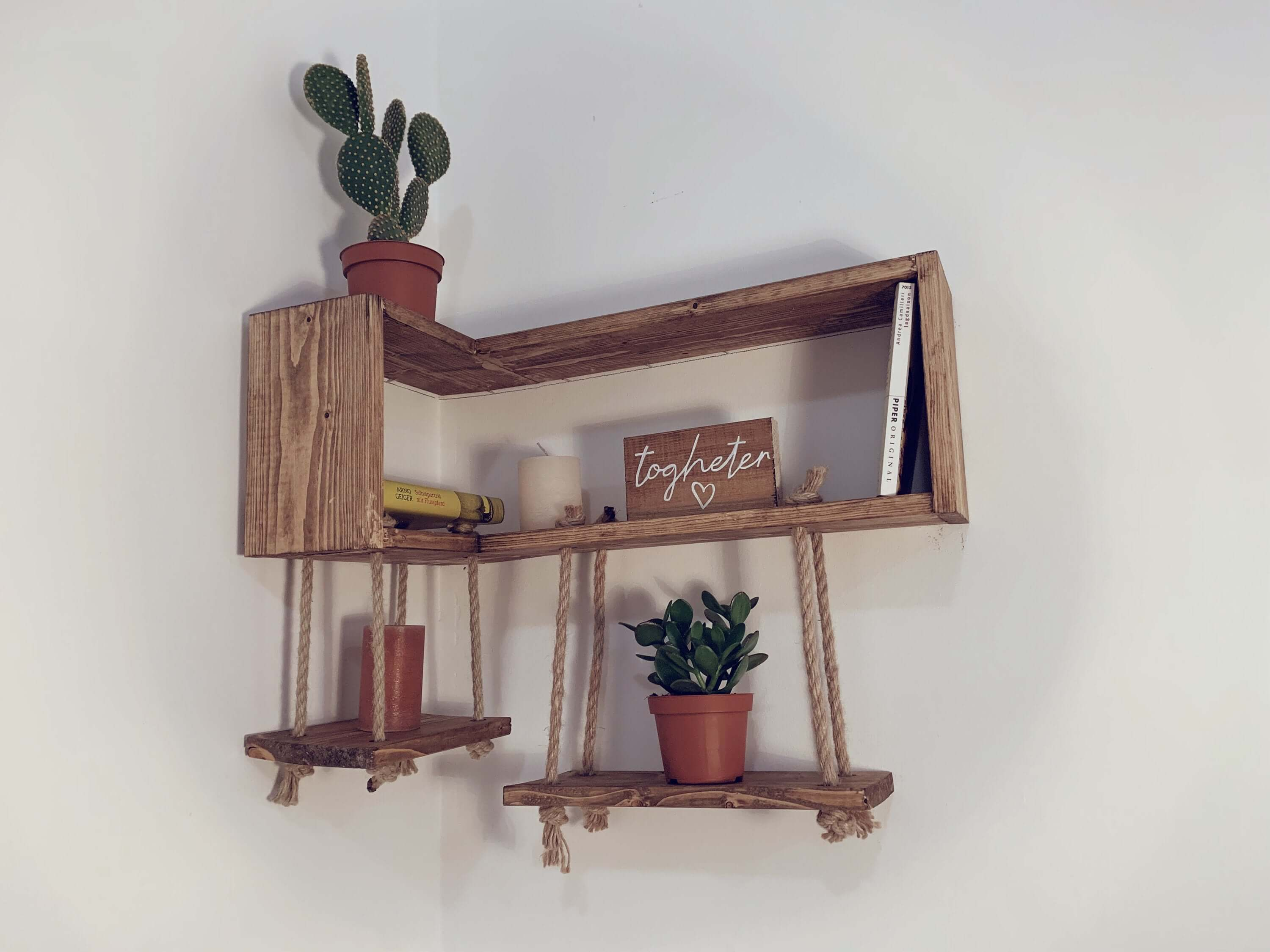 Sweet and Unique Shelves with a Swing