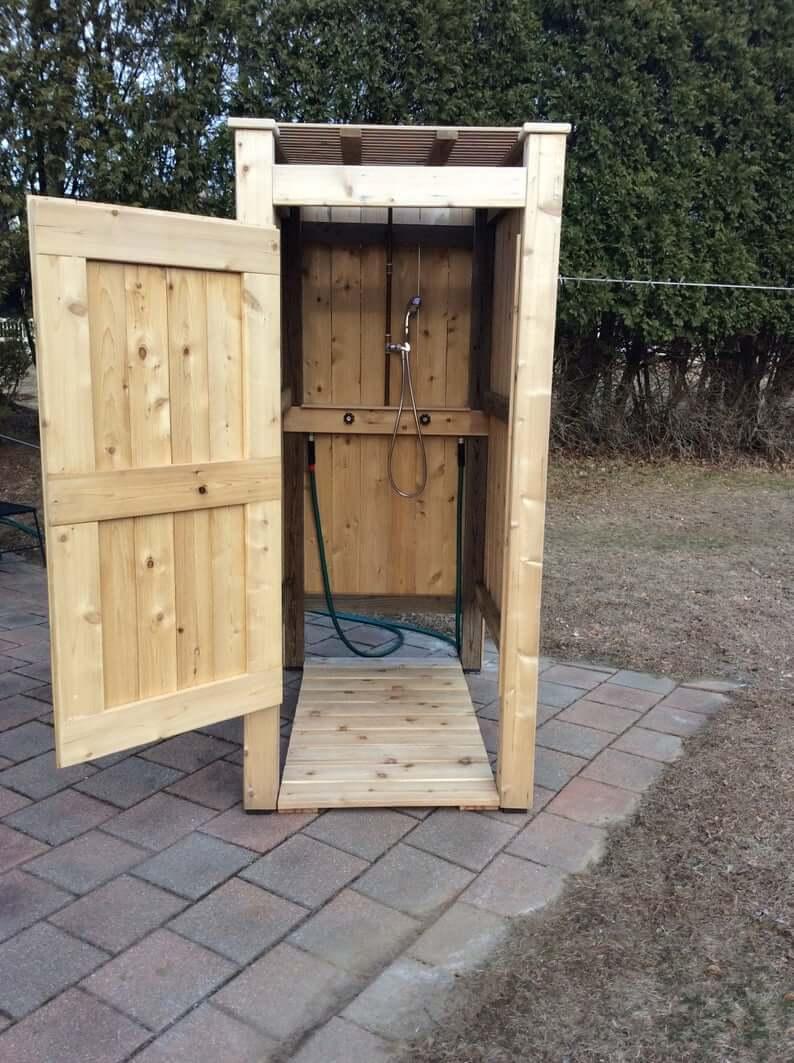 All Wood DIY Outdoor Shower