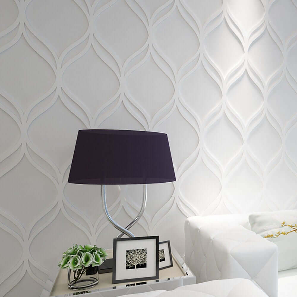Interlaced Leaf-like Paneling for Walls or Ceiling