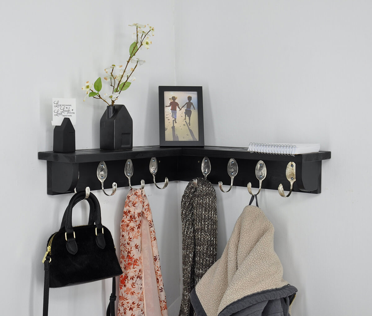 Clever Coat Rack DIY Corner Shelf Design
