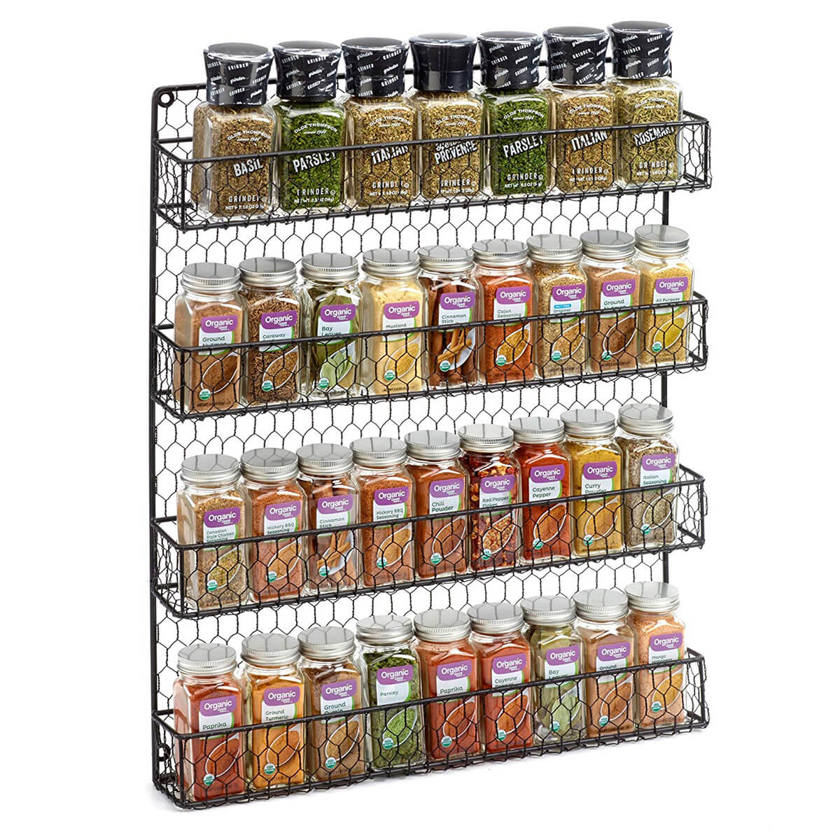 Wall Mount Wire Spice Rack