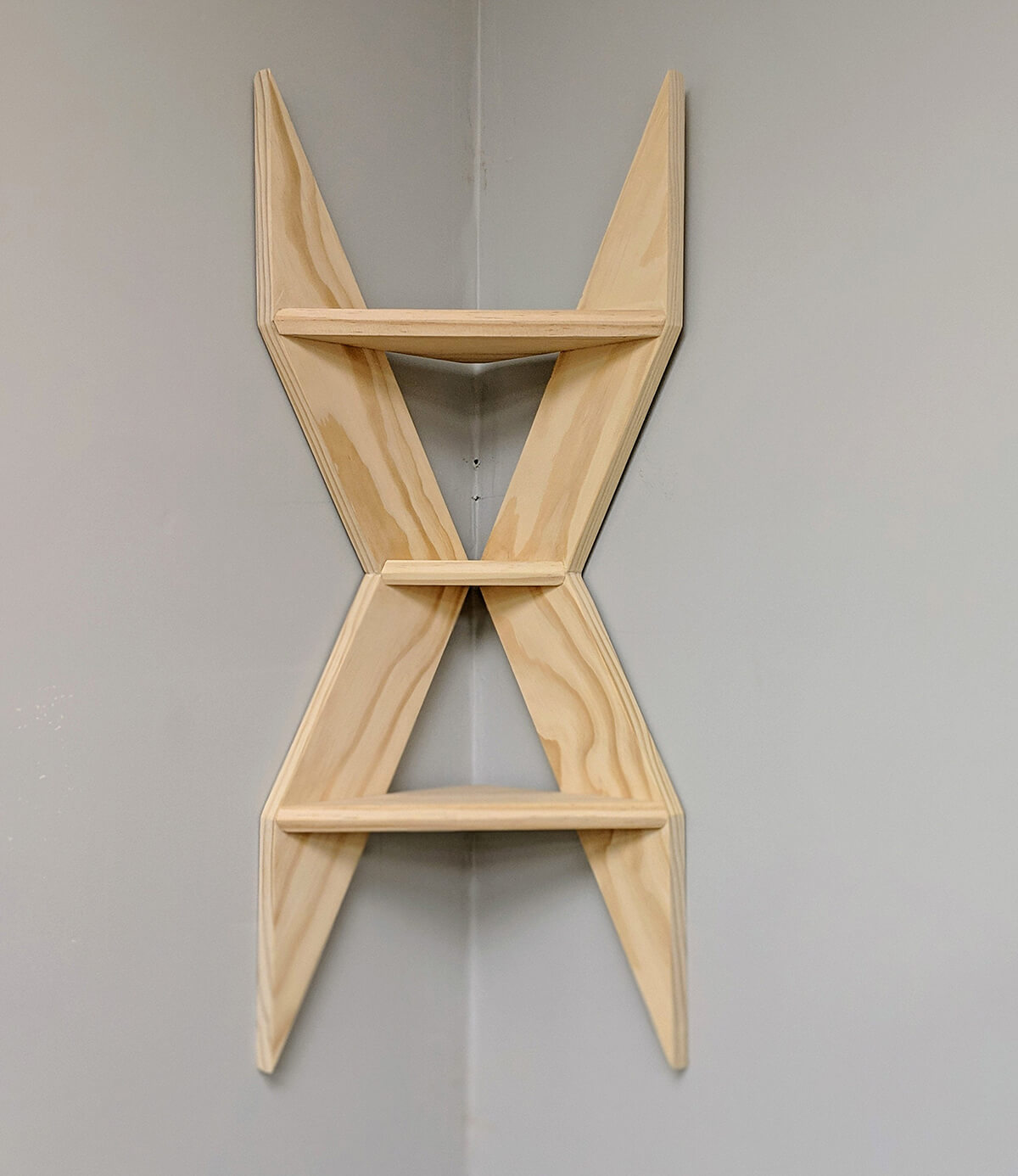 Cool X-Shaped Shelves DIY Art