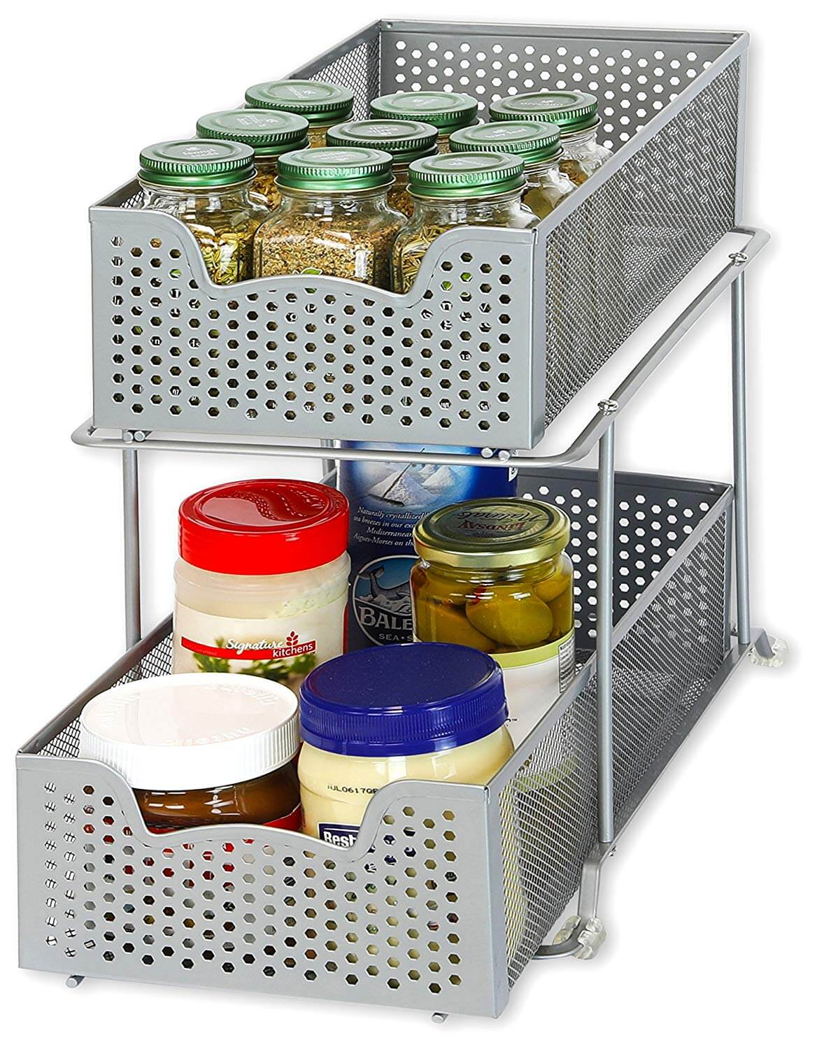 Sliding Basket Cabinet Organizer Drawers