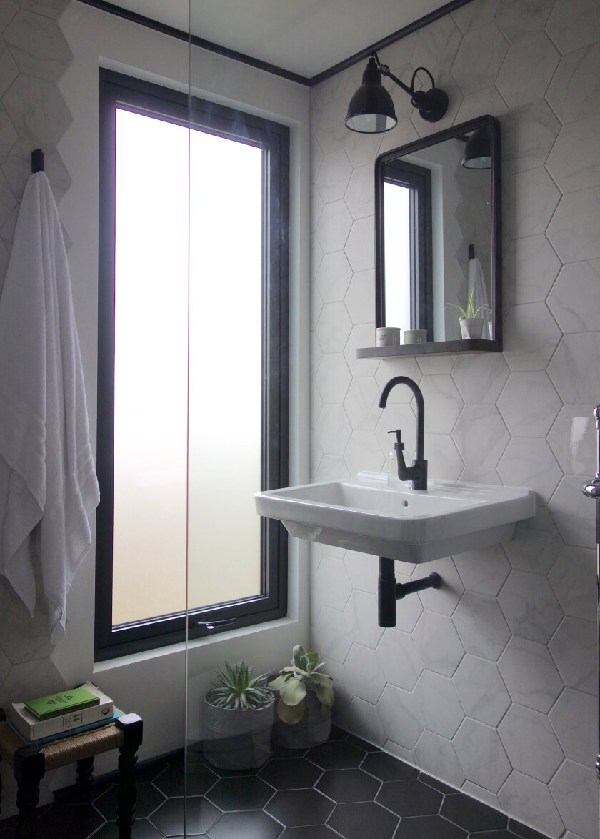 A Modern Mosaic Bathroom Update