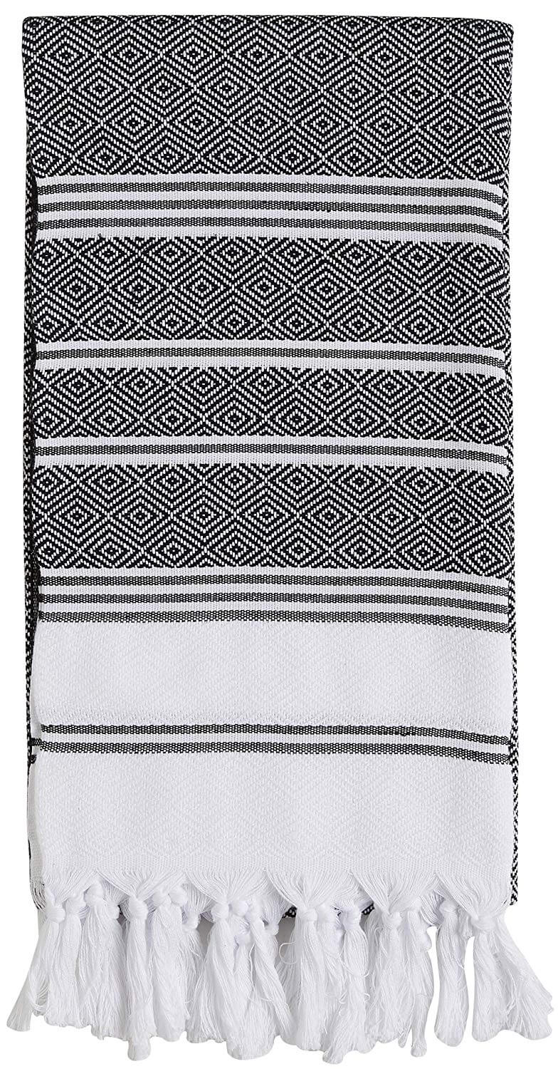 Diamond Weave Turkish Cotton Bath Beach Towel Set by BOSPHORUS