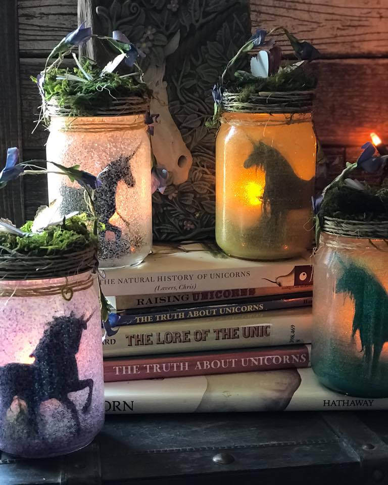 Mythical Unicorn Glowing Jar