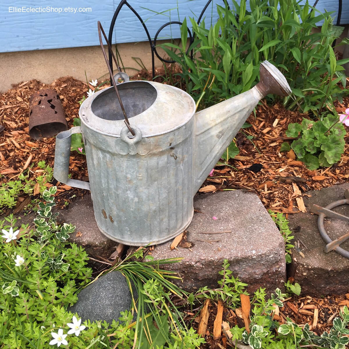 Simple and Beautiful Galvanized Watering Can