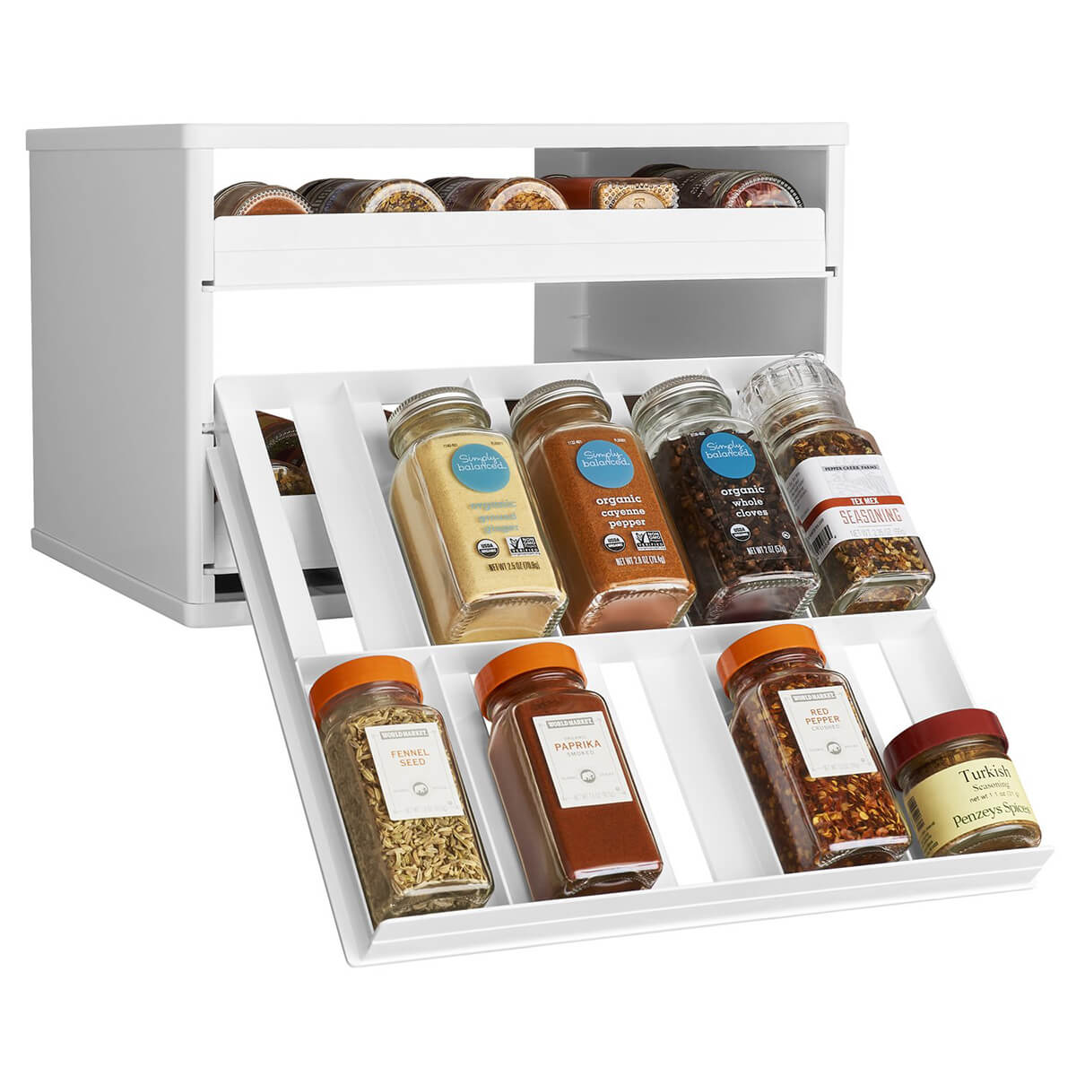 Spice Organizer with Universal Drawers