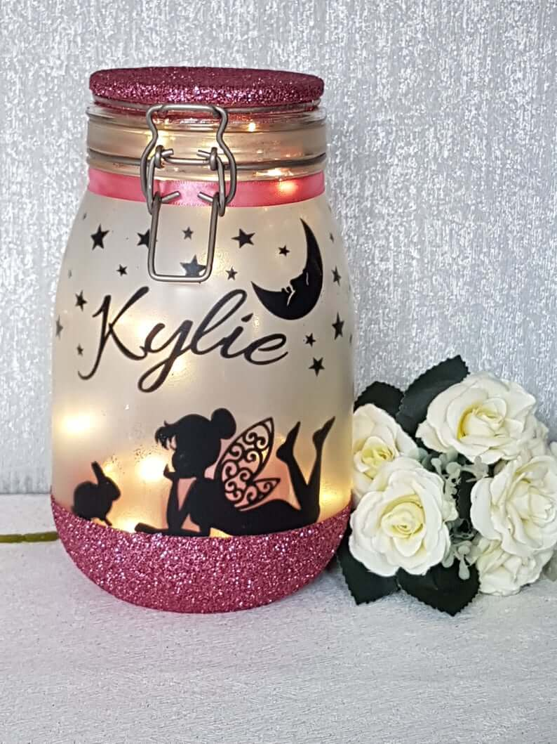 Customized Name Fairy Jar Craft