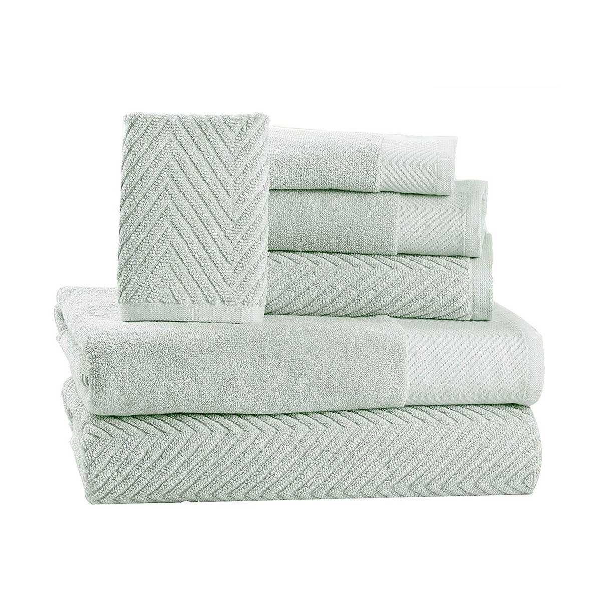 6 Piece Premium Cotton Bath Towels Set by Isabella Cromwell