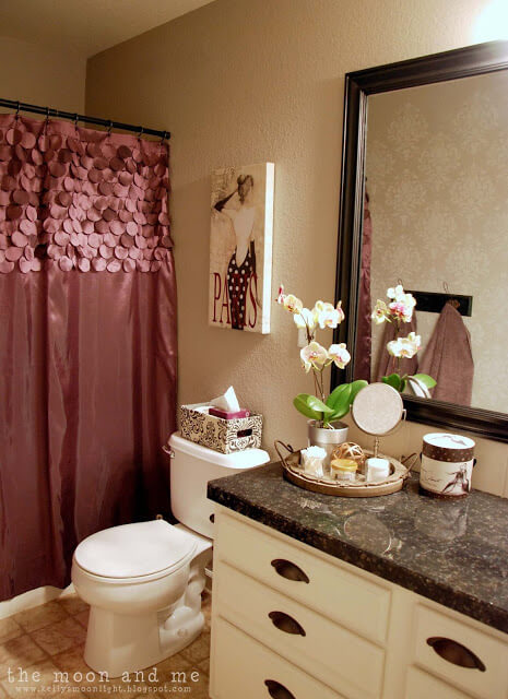 A Glam Bathroom Makeover on a Budget