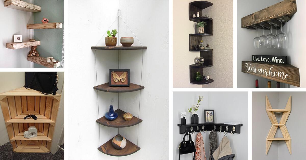 Design Ideas For Diy Corner Shelves