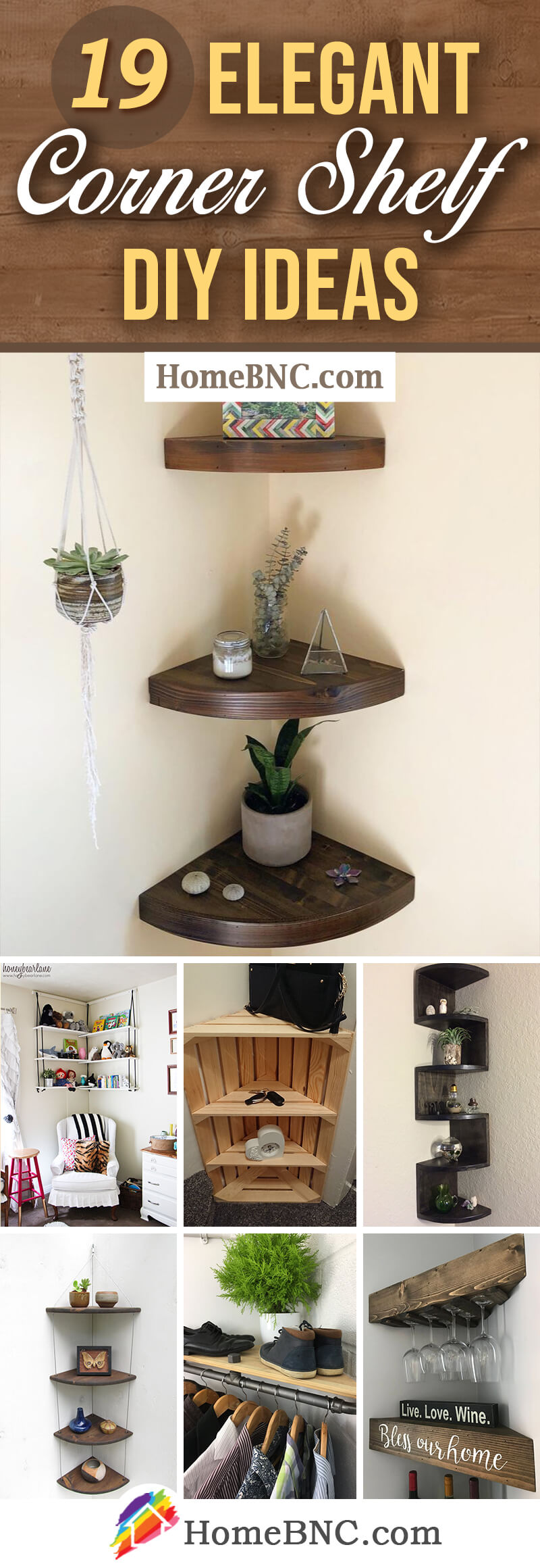 Design Ideas for DIY Corner Shelves