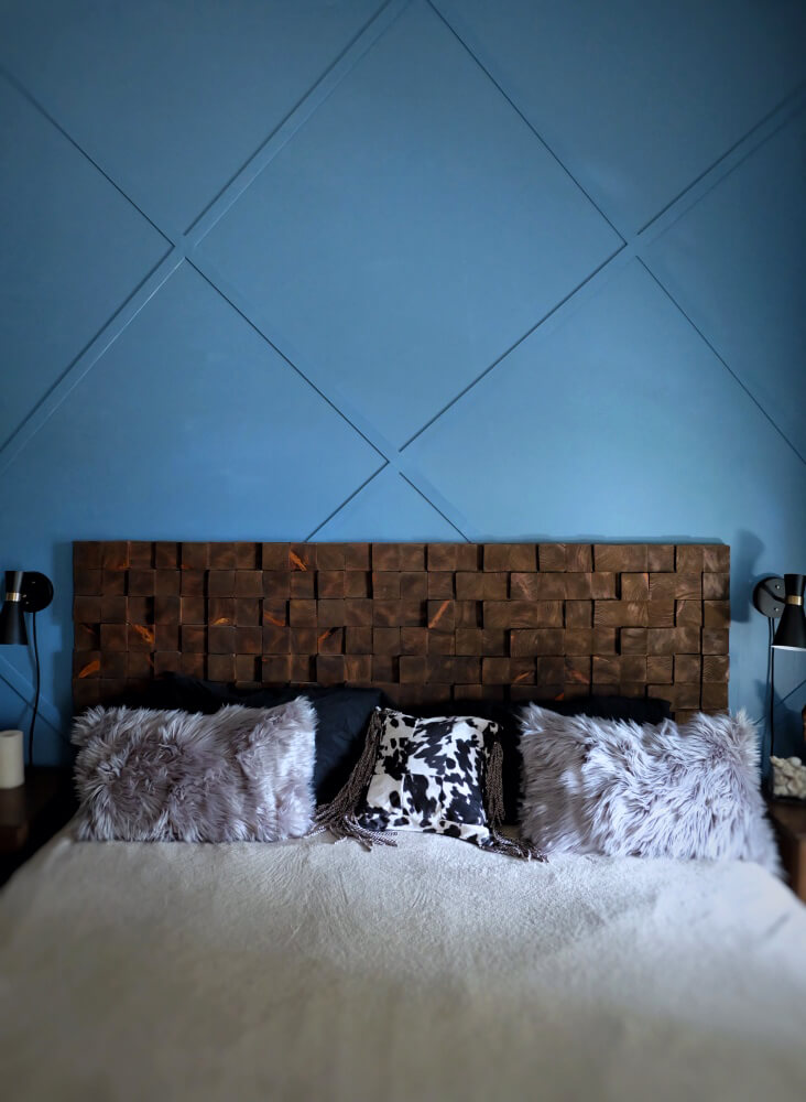 Diamond Patterned Accent Wall with Texture