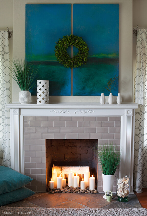 Fresh, Bright and Transformative Fireplace Decor
