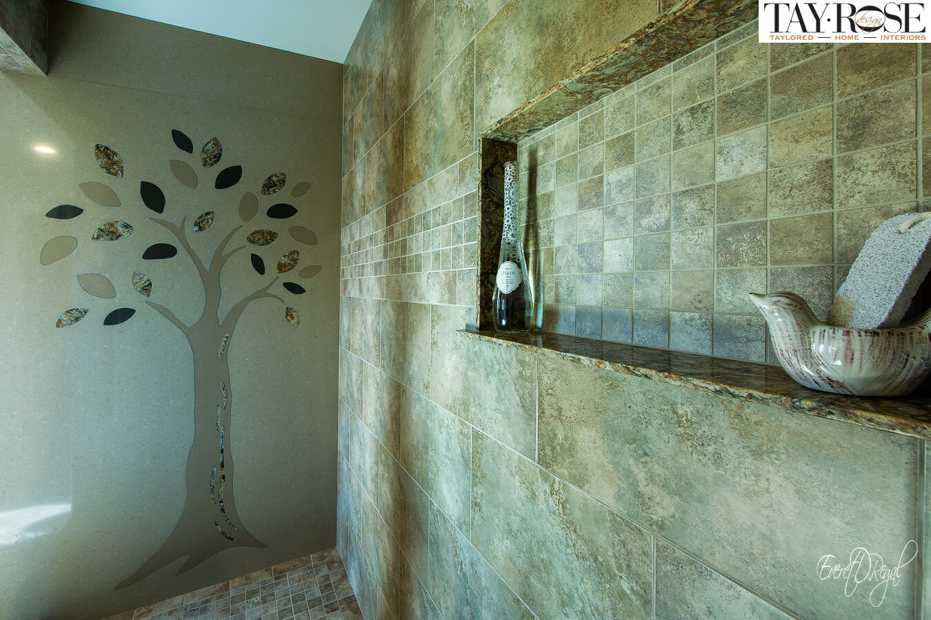 Beautiful Earth Inspired Bathroom Tile Work