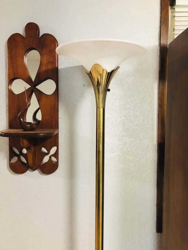 Elegant Golden Lily Shaped Lamp