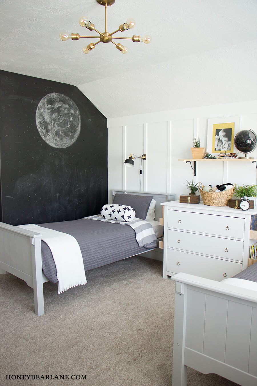 Out of This World Chalkboard Accent Wall
