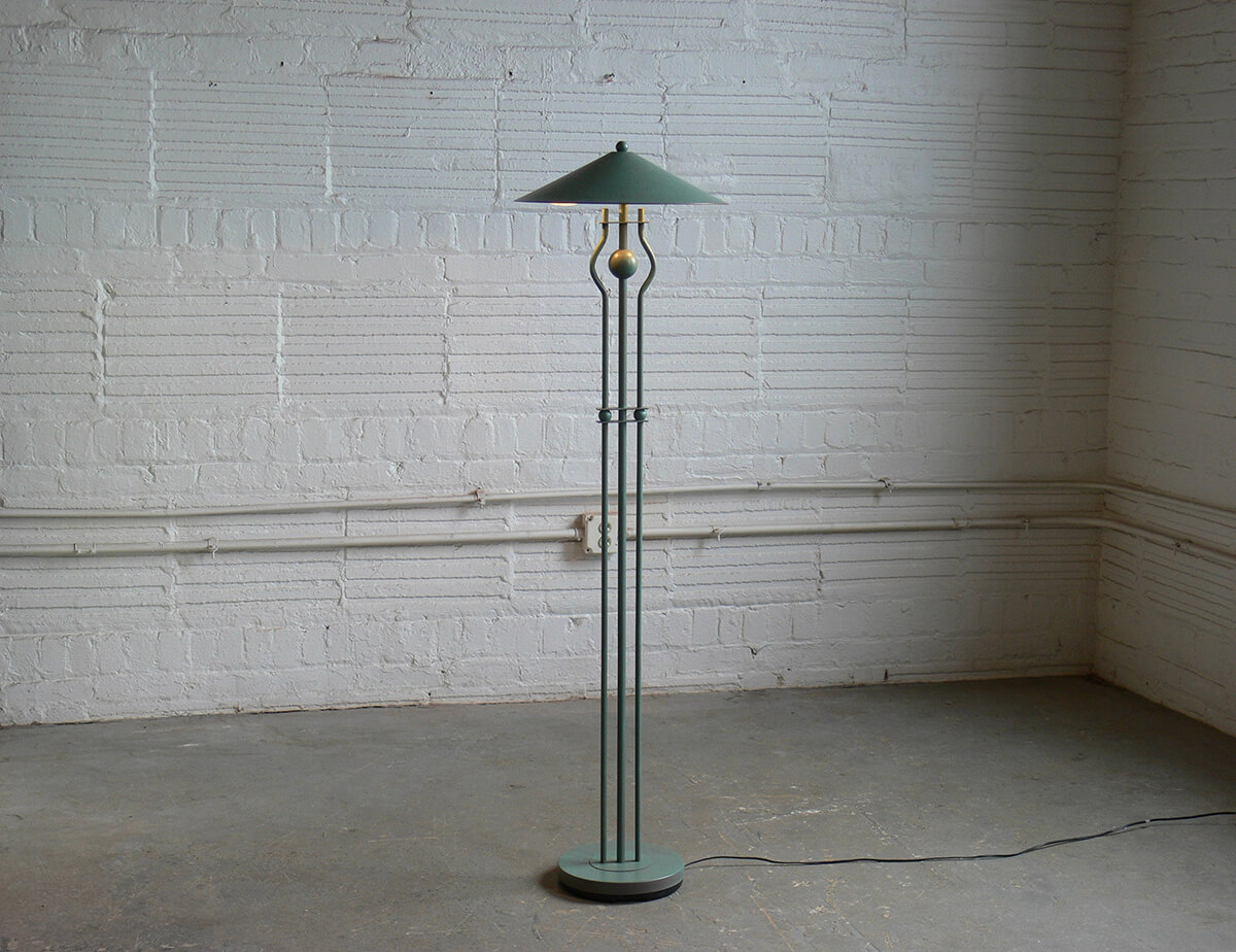 Funky Geometric Standing Lamp with Simple Shade
