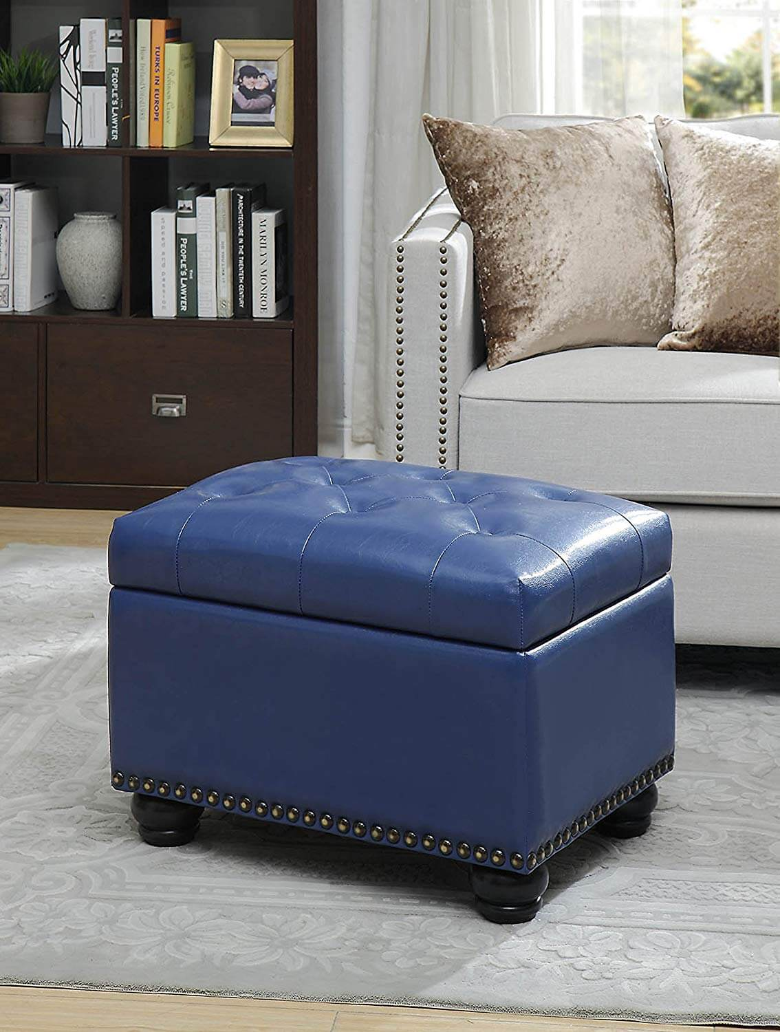 Storage Ottoman for Style and Functionality