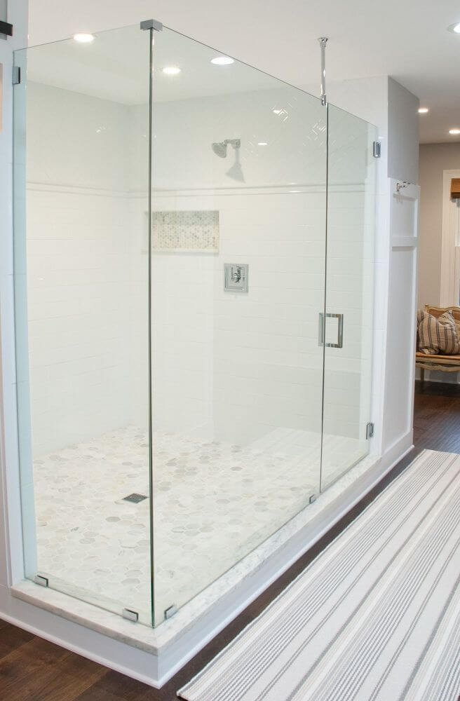 Sleek Walk In Bathroom Shower Design
