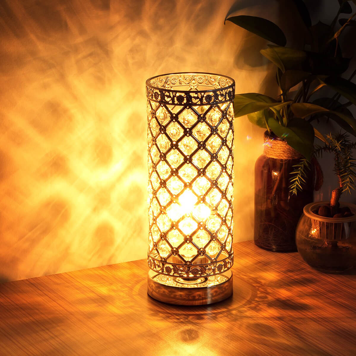 Touch Control Crystal Table Lamp