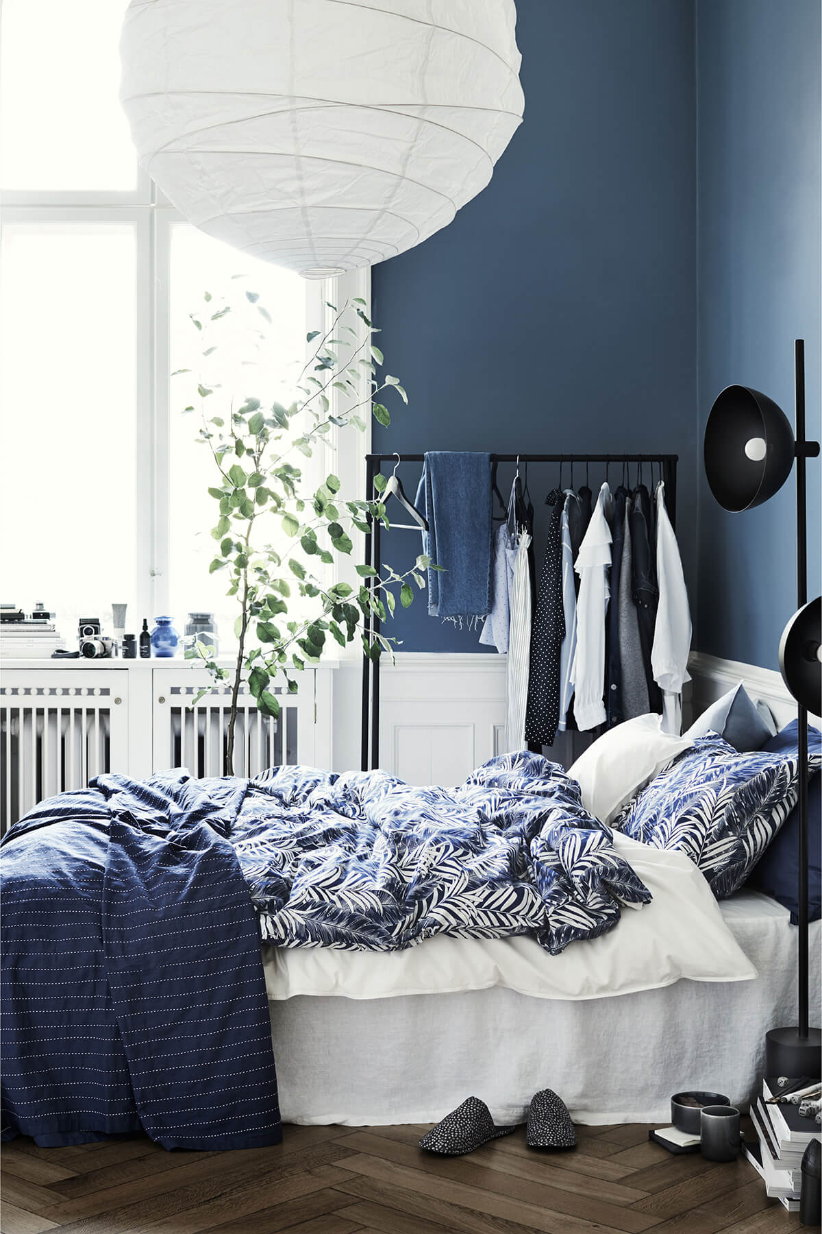 Paper Moon and Blue Night Sky Bedroom