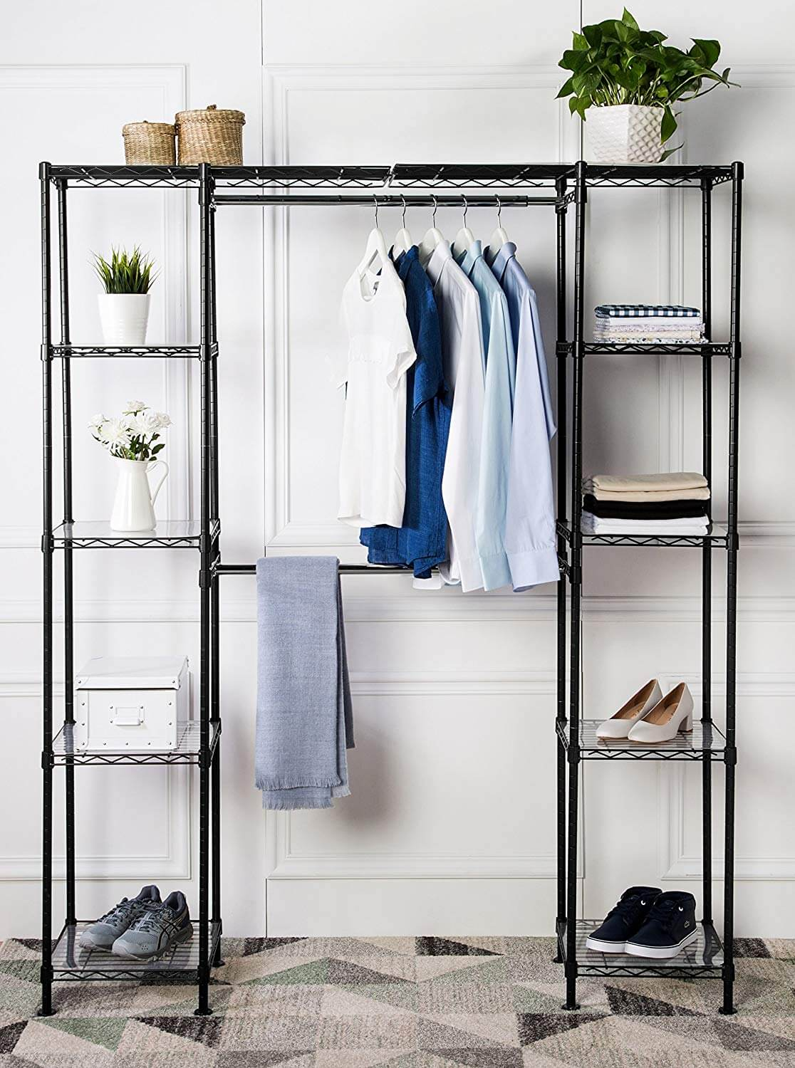 Clean and Sharp Custom Closet Unit