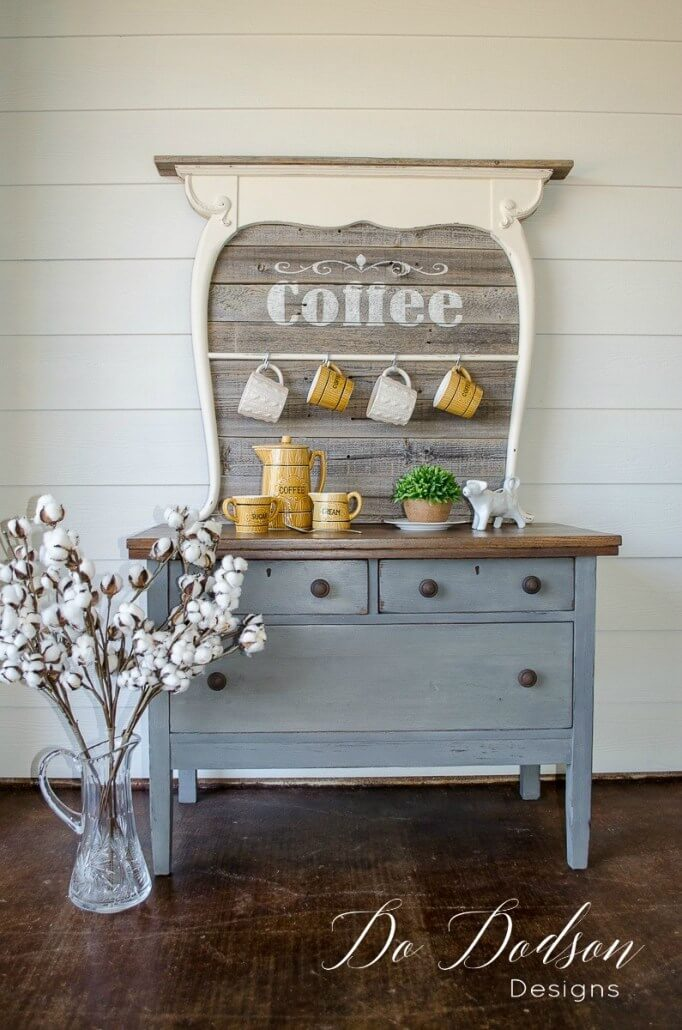 Shabby Chic Kitchen Coffee Bar