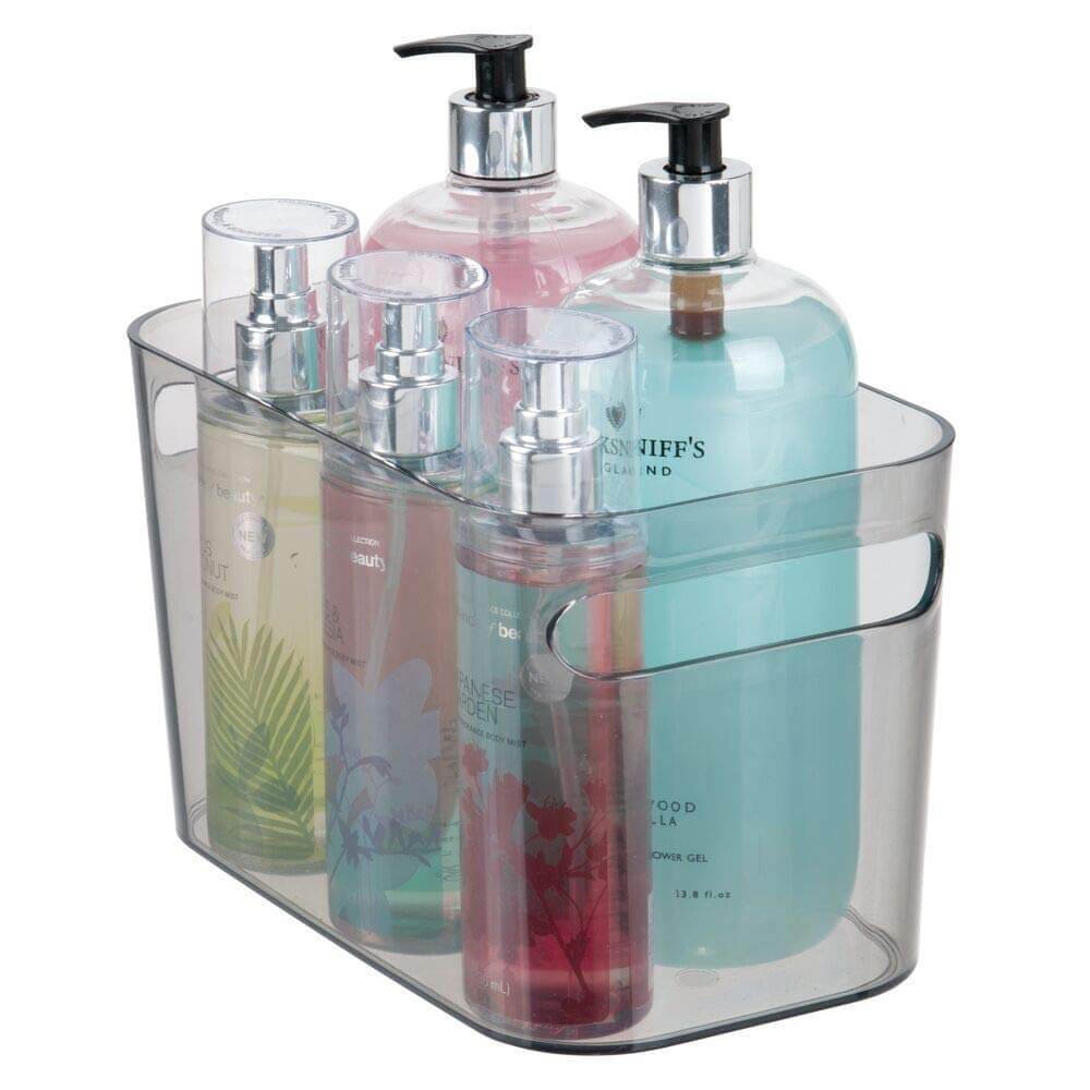 Plastic Countertop Bathroom Storage Bins with Handles