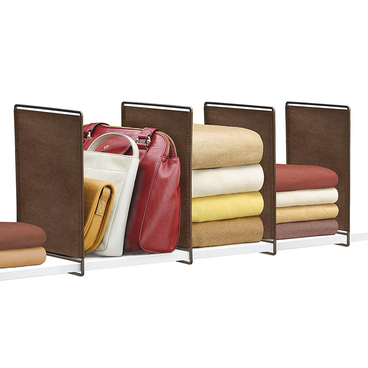 Stylish and Cool Leather Shelf Dividers