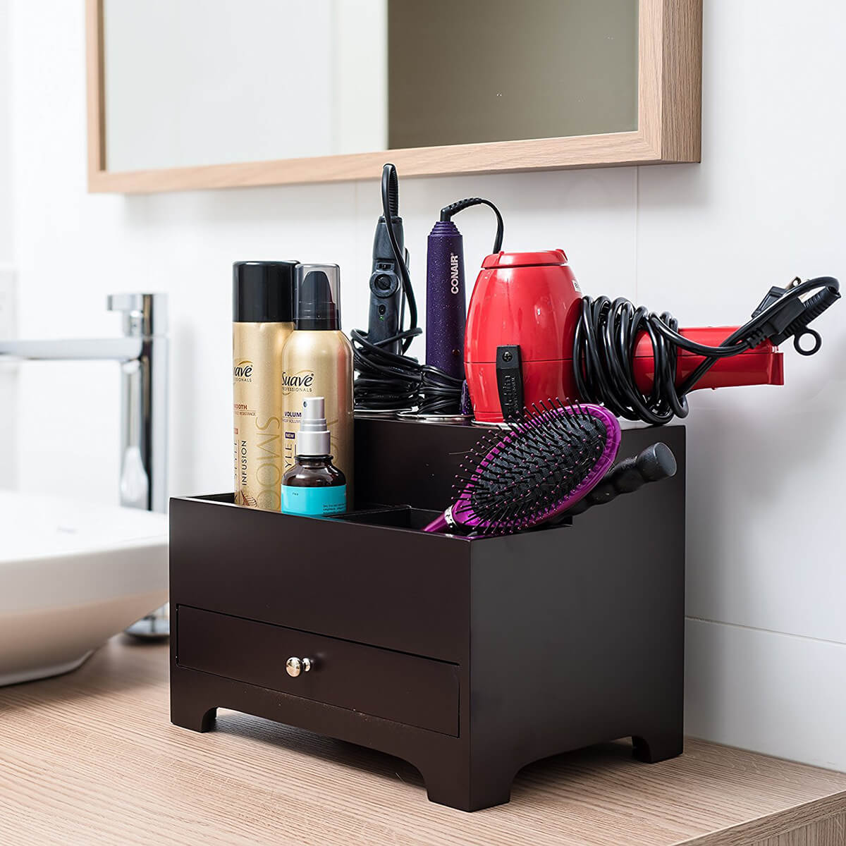 Two-tiered Hair Styling Tool Best Bathroom Organizer