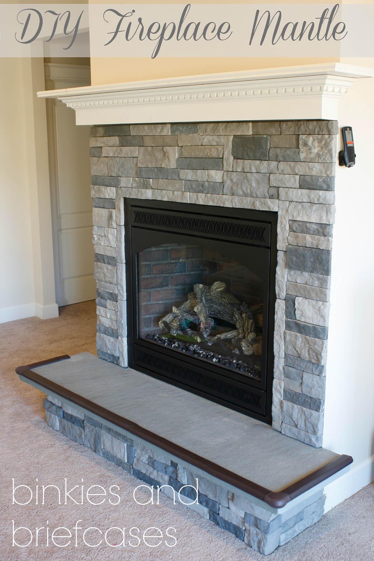 Amazing Stone Fireplace Mantel Idea — Homebnc