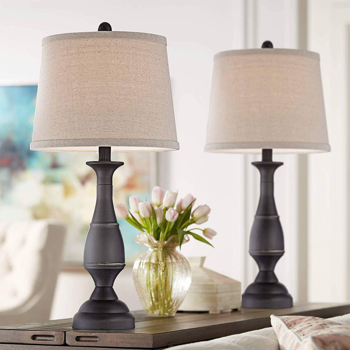 Choose Twin Table Lamps for Twice the Elegance