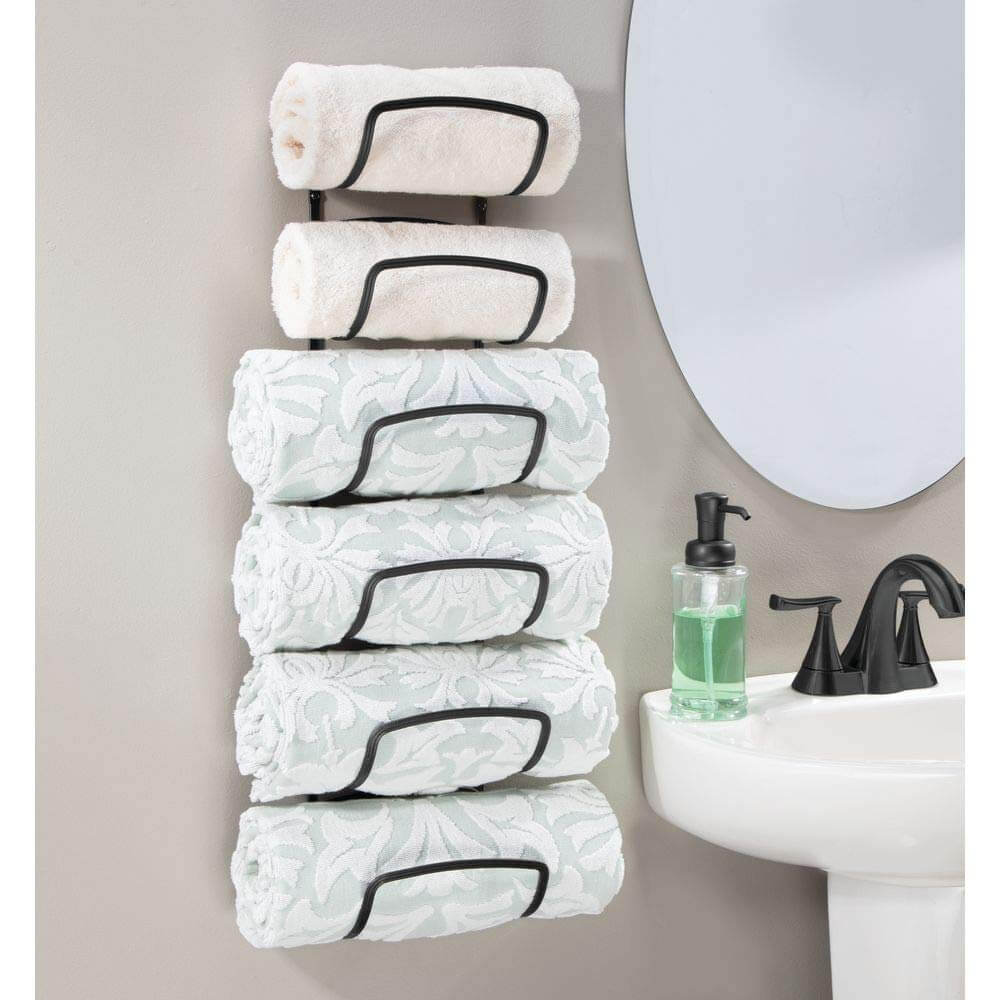 Six-tiered Vertical Wall-mounted Towel Butler