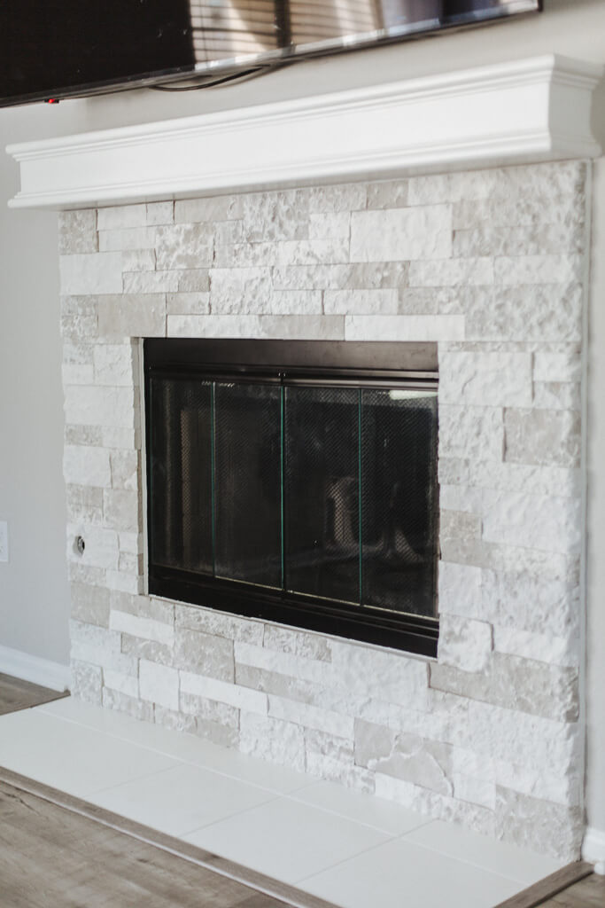 Demolition-Free Airstone Fireplace Home Renovation