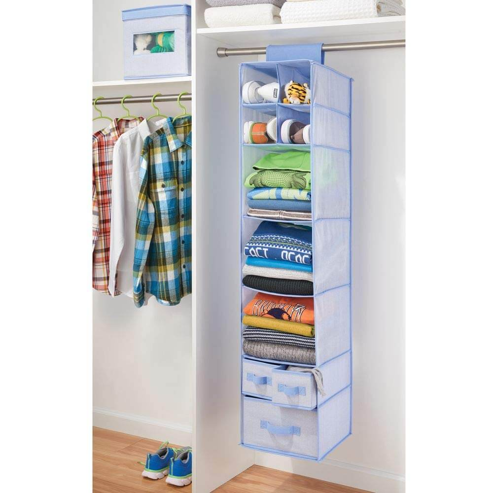 Extra-Long Hanging Shelf and Drawer Organizer