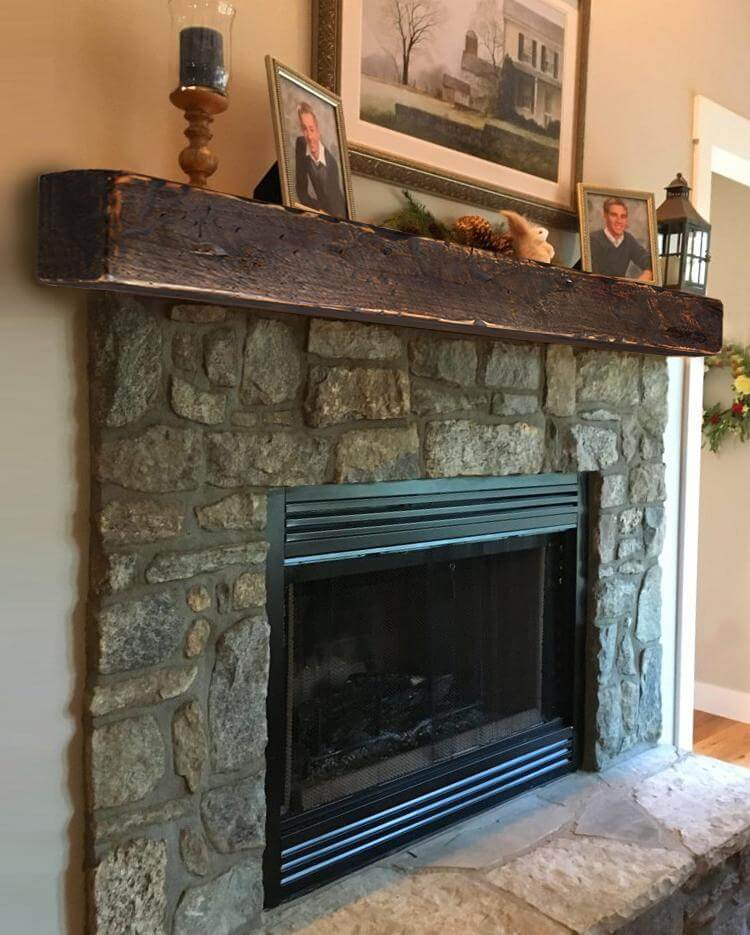 Cozy and Rustic Fireplace Mantel