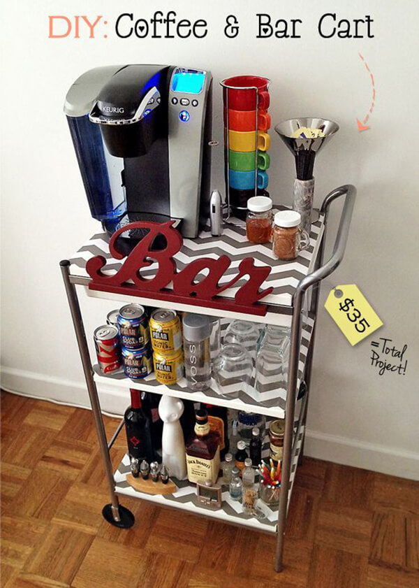 Do Double Duty with Coffee and Bar Cart