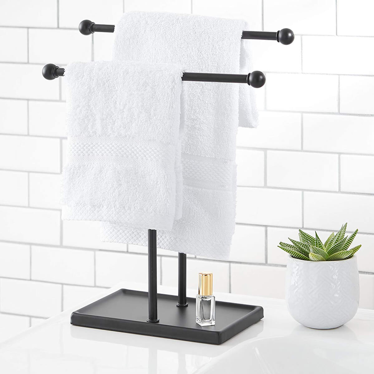 Two-tiered Double-T Hand Towel Rack