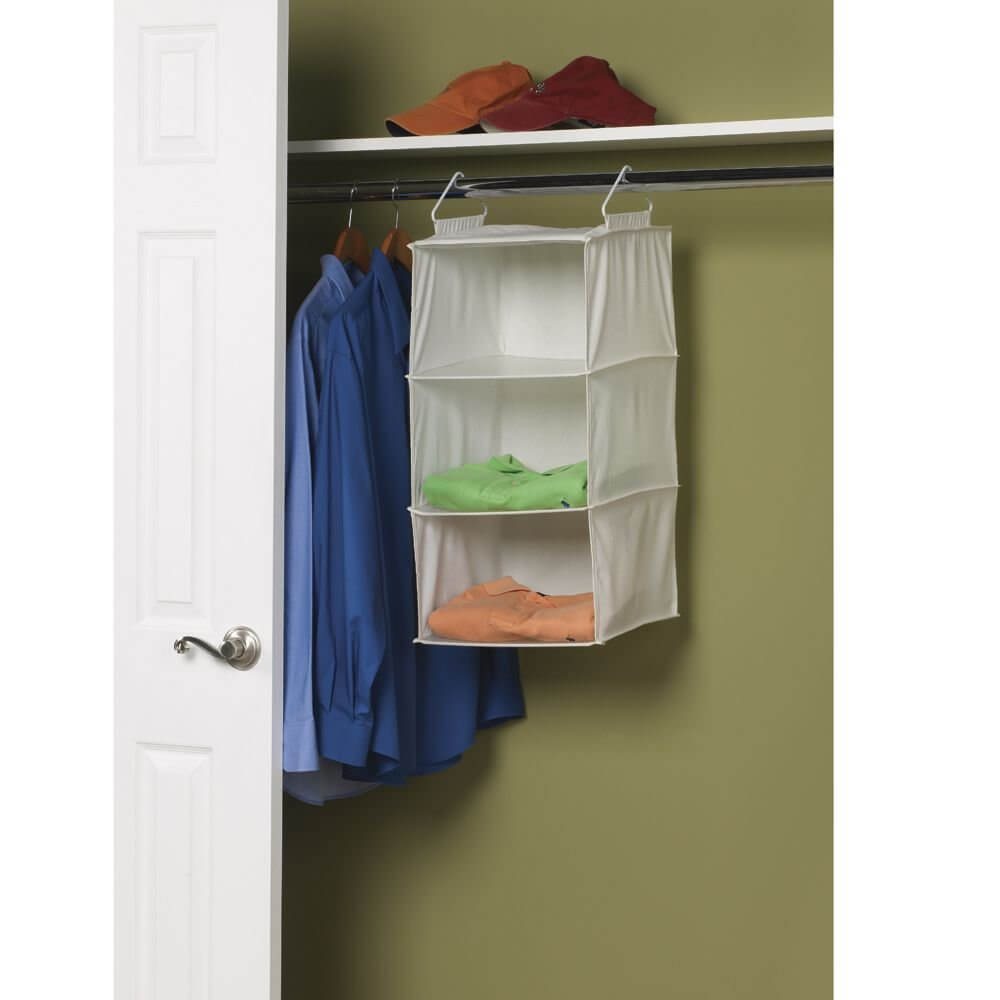 Three-Tier Hanging Closet Shelf
