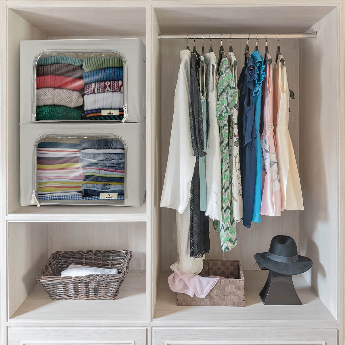 Overflow-Proof Shirt Storage Cubes